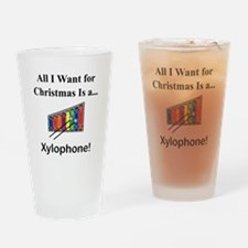 Christmas Xylophone Drinking Glass
