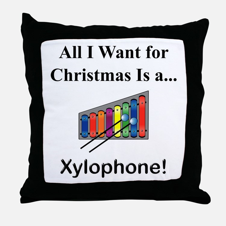 Christmas Xylophone Throw Pillow