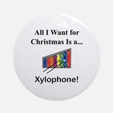 Christmas Xylophone Ornament (Round)
