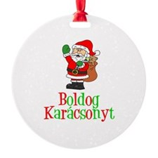 Boldog Karcsonyt Santa Ornament