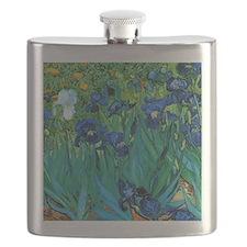 Van Gogh Garden Irises Flask