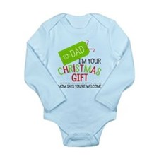I'm Your Christmas Gift Long Sleeve Baby Body Suit