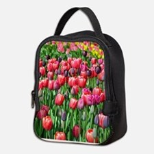 Unique Tulips Neoprene Lunch Bag
