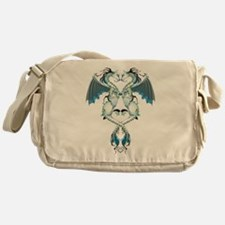 Azure Love Dragons Messenger Bag