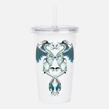 Azure Love Dragons Acrylic Double-wall Tumbler