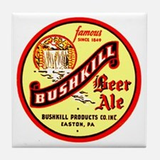 Bushkill Beer-1939 Tile Coaster