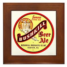 Bushkill Beer-1939 Framed Tile