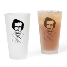 Portrait of Edgar Allen Poe Drinking Glass