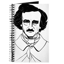Portrait of Edgar Allen Poe Journal
