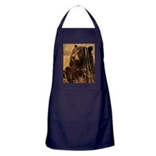 Waiting Bear Apron (dark)