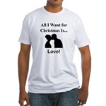 Christmas Love Fitted T-Shirt