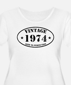 Vintage Aged to Perfection 40 Plus Size T-Shirt