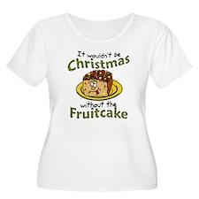 Funny Christmas Cartoon Fruitcake Plus Size T-Shir