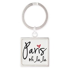 Paris oh la la Keychains