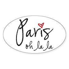 Paris oh la la Decal