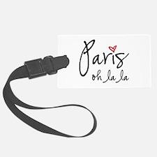 Paris oh la la Luggage Tag
