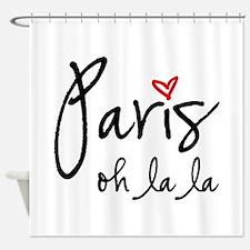 Paris oh la la Shower Curtain
