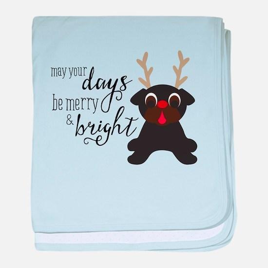 Merry Pugmas Christmas Black Pug Santa & Reindeer