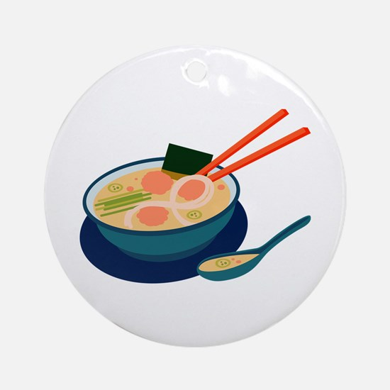 Asian Soup Ornament (Round)