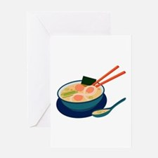 Asian Soup Greeting Cards