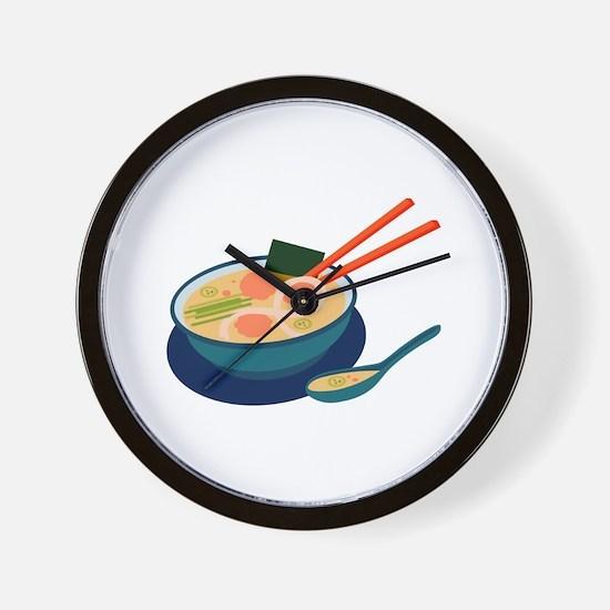 Asian Soup Wall Clock
