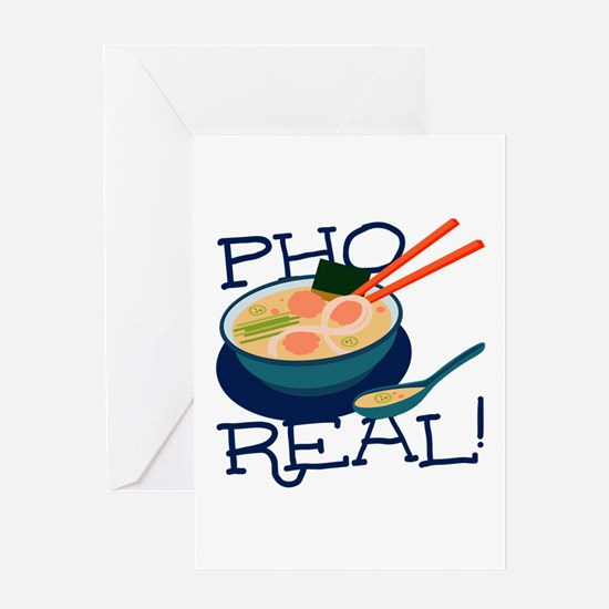 Pho Real Greeting Cards