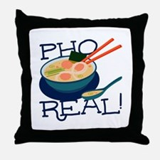Pho Real Throw Pillow