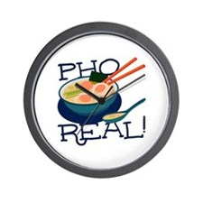 Pho Real Wall Clock