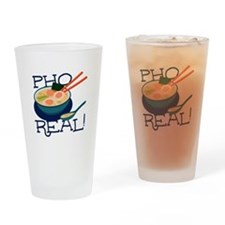 Pho Real Drinking Glass