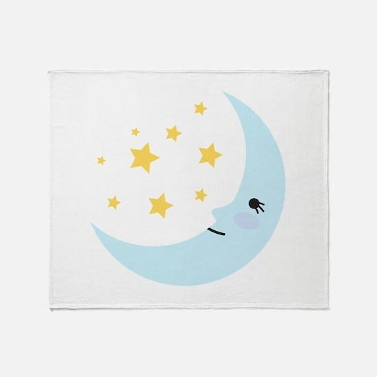 Sweet Dreams Moon Throw Blanket
