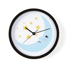 Sweet Dreams Moon Wall Clock