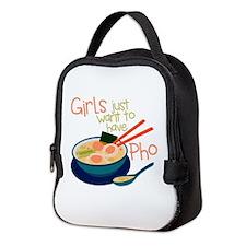 Girls Just Neoprene Lunch Bag