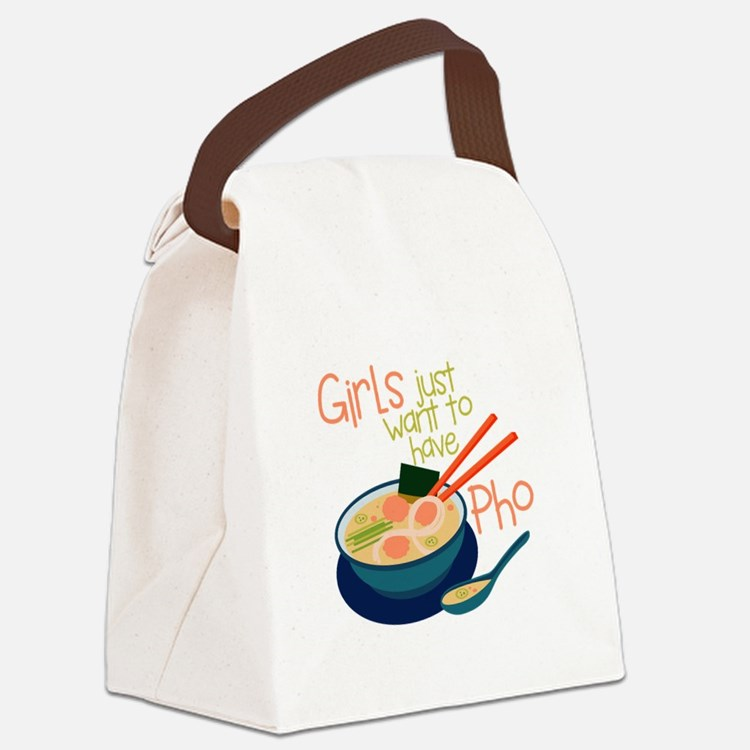 Girls Just Canvas Lunch Bag