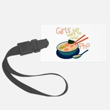 Girls Just Luggage Tag
