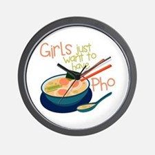 Girls Just Wall Clock