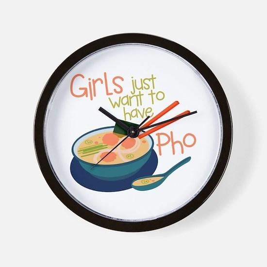 Girls Just Wall Clock