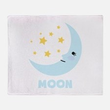 Night Moon Throw Blanket