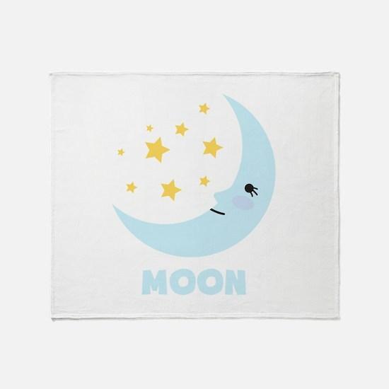Night Moon Throw Blanket