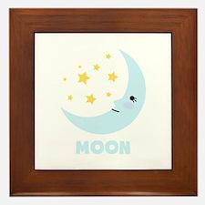 Night Moon Framed Tile