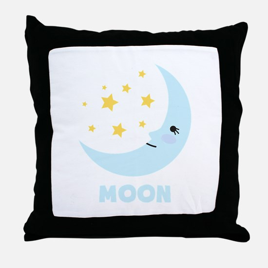 Night Moon Throw Pillow