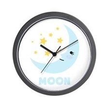 Night Moon Wall Clock