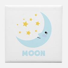 Night Moon Tile Coaster