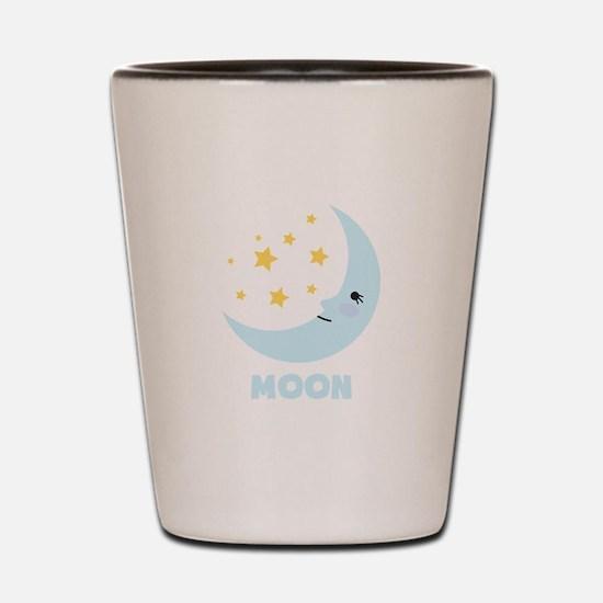 Night Moon Shot Glass