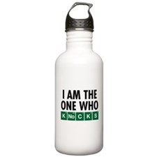 The One Who Knocks Sports Water Bottle