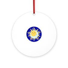 Solstice Sun Ornament (Round)