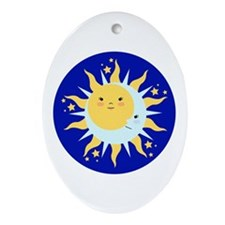 Solstice Sun Ornament (Oval)
