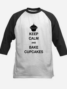 Keep Calm and Bake Cupcakes Baseball Jersey