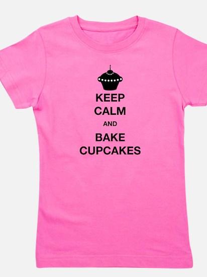 Keep Calm and Bake Cupcakes Girl's Tee