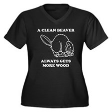 A Clean Beaver Always Gets More Wood Plus Size T-S
