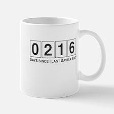 Days Since I Last Gave A Shit Mugs